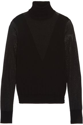 MAJE Wool-blend turtleneck sweater