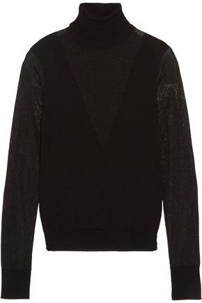 MAJE Wool-blend turtleneck sweater