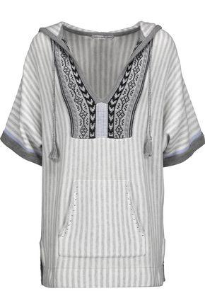 AUTUMN CASHMERE Baja intarsia-knit striped cotton hooded sweater