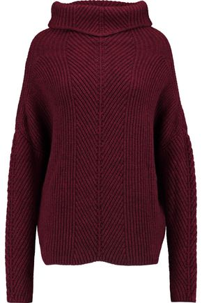 MAJE Ribbed-knit turtleneck sweater