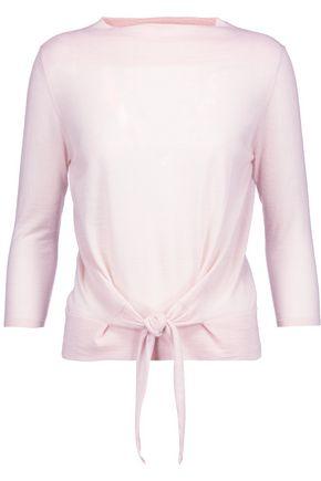 AUTUMN CASHMERE Tie-front cashmere top