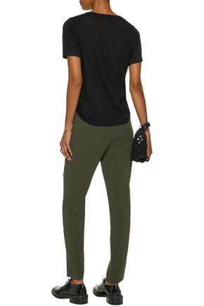 AUTUMN CASHMERE Lace-up melange cashmere T-shirt