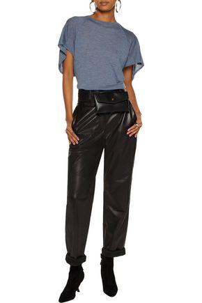 AUTUMN CASHMERE Cape-effect cashmere top