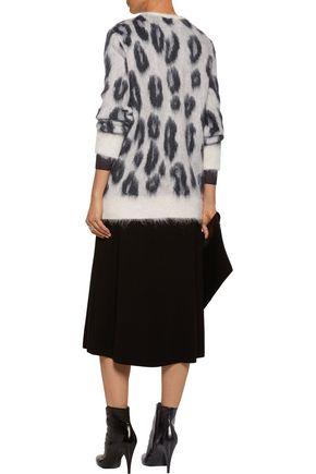 GIAMBA Leopard mohair-blend cardigan