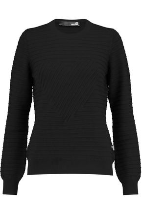 LOVE MOSCHINO Ribbed wool sweater