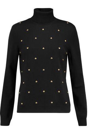 LOVE MOSCHINO Studded wool turtleneck sweater