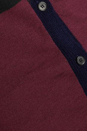 MARNI Color-block wool cardigan