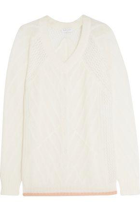 VIONNET Mohair-blend cable-knit sweater