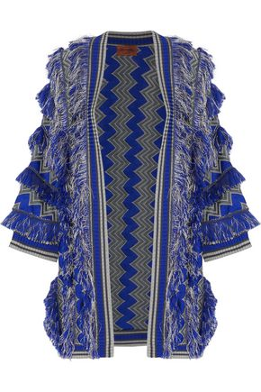MISSONI Fringed crochet-knit cardigan