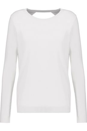 DIANE VON FURSTENBERG Open-back merino wool and silk-blend sweater