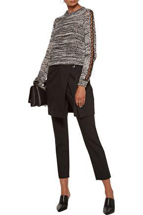 10 CROSBY DEREK LAM Eyelet-embellished open-knit cotton sweater