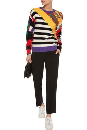 LOVE MOSCHINO Intarsia-knit sweater