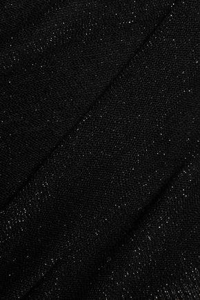 ZOE KARSSEN Paneled metallic knitted sweater
