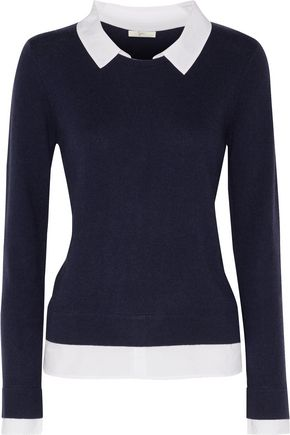 JOIE Rika waffle-knit wool and cashmere-blend sweater