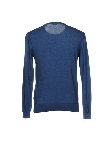 Фото 2 - Мужской свитер LUIGI BORRELLI NAPOLI темно-синего цвета