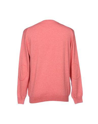 Фото 2 - Мужской свитер  кораллового цвета