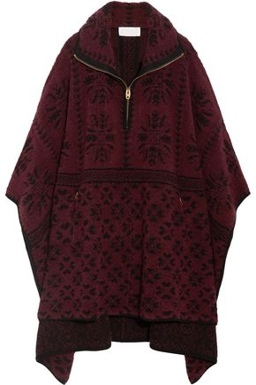 CHLOÉ Oversized wool and cashmere-blend terry cape
