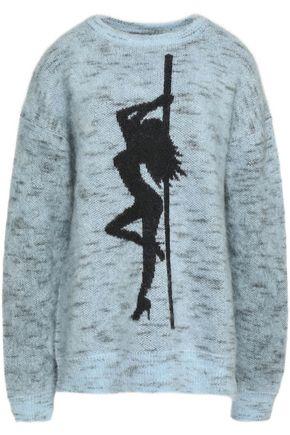 ALEXANDER WANG Intarsia mohair-blend sweater