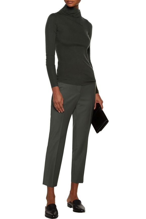 Leendelly ribbed merino wool turtleneck sweater | THEORY | Sale up to 70%  off | THE OUTNET