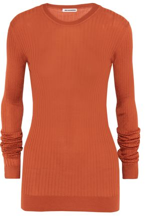 JIL SANDER Ribbed-knit silk sweater