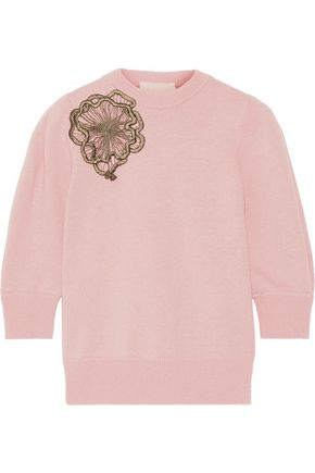 ROKSANDA Morena appliquéd wool sweater