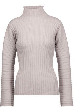 DEREK LAM Ribbed wool and cashmere-blend turtleneck sweater