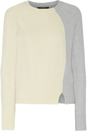 DEREK LAM Two-tone wool and cashmere-blend sweater