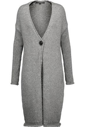 DEREK LAM Marled chunky-knit wool-blend cardigan