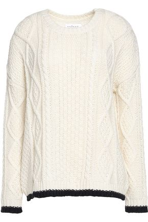 VELVET by GRAHAM & SPENCER Cable-knit sweater