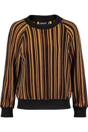 JUST CAVALLI Metallic striped knitted sweater