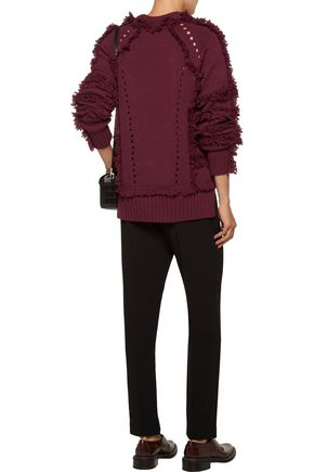 BELSTAFF Karli fringed wool, silk and cashmere-blend sweater