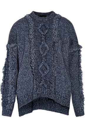 BELSTAFF Kia fringed marled wool-blend sweater