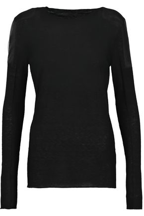 BELSTAFF Kora tulle-trimmed stretch-knit sweater