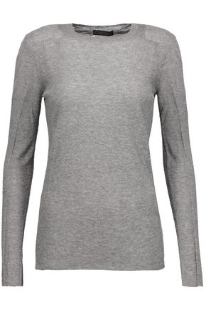 BELSTAFF Kora tulle-paneled stretch-knit sweater