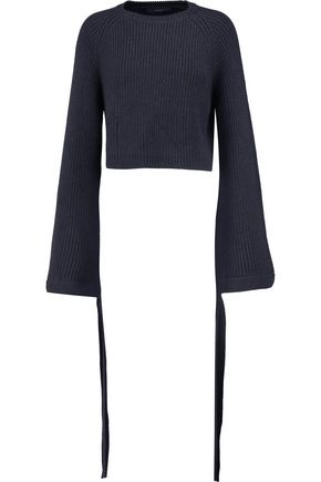 ELLERY Monty cropped ribbed merino wool sweater