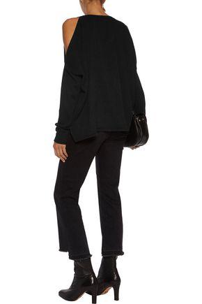 LINE Hart cold-shoulder cashmere sweater
