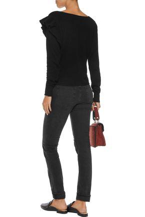 LINE Allegra ruffled cashmere sweater