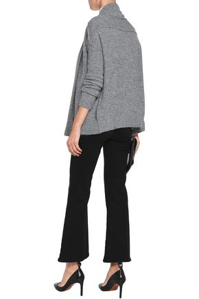 VELVET by GRAHAM SPENCER Paneled stretch-knit cardigan