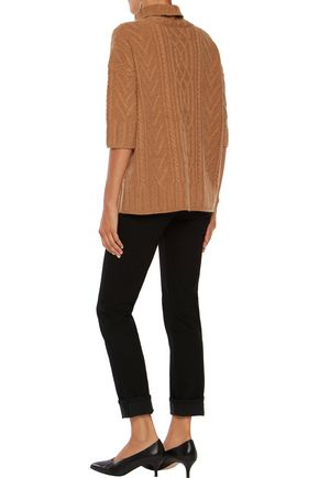 IRIS & INK Barbara cable-knit cashmere turtleneck sweater
