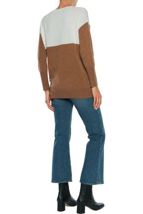 IRIS & INK Andi rib-trimmed cashmere sweater