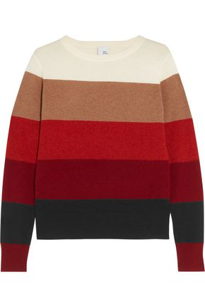 IRIS & INK Jackie color-block cashmere sweater