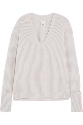 IRIS AND INK Livia ribbed-knit cashmere sweater