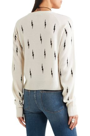 KATE MOSS EQUIPMENT Ryder intarsia cashmere sweater