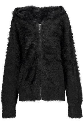 RTA Estelle faux-fur hooded sweatshirt