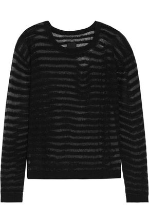 RTA Charlotte metallic open-knit cashmere sweater