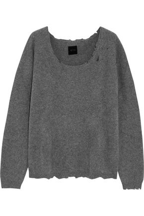 RTA Charlotte distressed cashmere-blend sweater