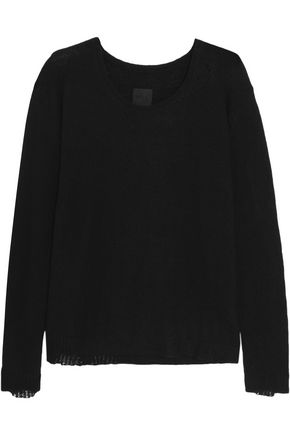 RTA Charlotte distressed cashmere sweater