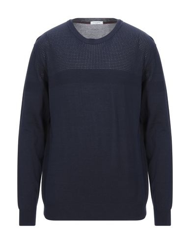 Фото - Мужской свитер PAOLO PECORA темно-синего цвета