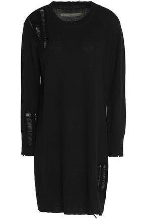 Enza Costa Woman Knotted Cotton-jersey Mini Dress Black Size M Enza Costa ginKEsxV4s