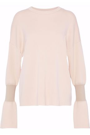 TIBI Paneled merino wool sweater